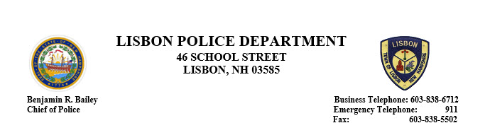 Lisbon Police Department, NH